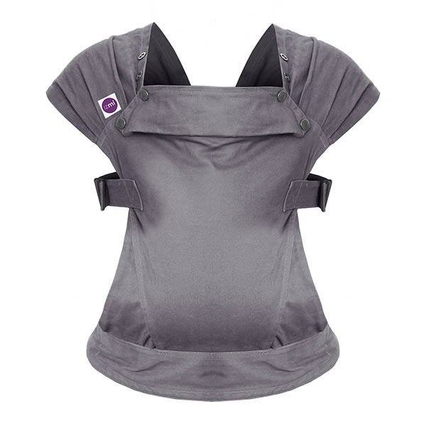 Izmi_Baby_Carrier_Cotton_Mid_Grey_Product_Ghost_Front.jpg