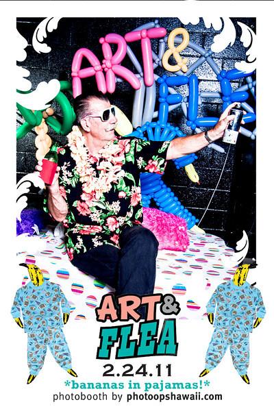 Art & Flea Bananas in Pajamas Party (February 2011)