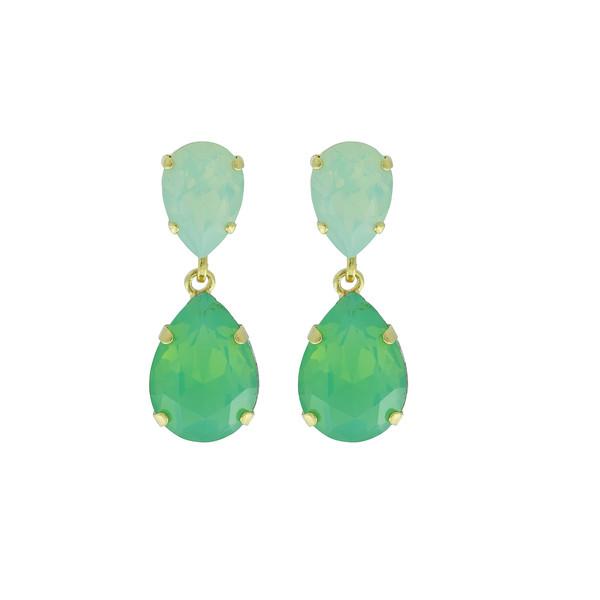 Classic Drop Earrings / Chrysolite Opal
