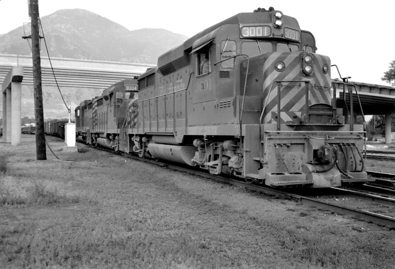 D&RGW 3001. Provo. July 30, 1965. (Marvin Black Photo)