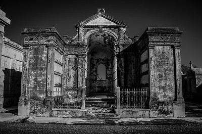 Metairie Cemetery in B&W 11-02-2013