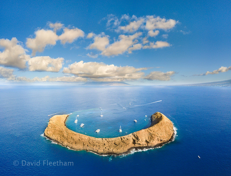 Molokini Crater, Hawaii copyright David Fleetham