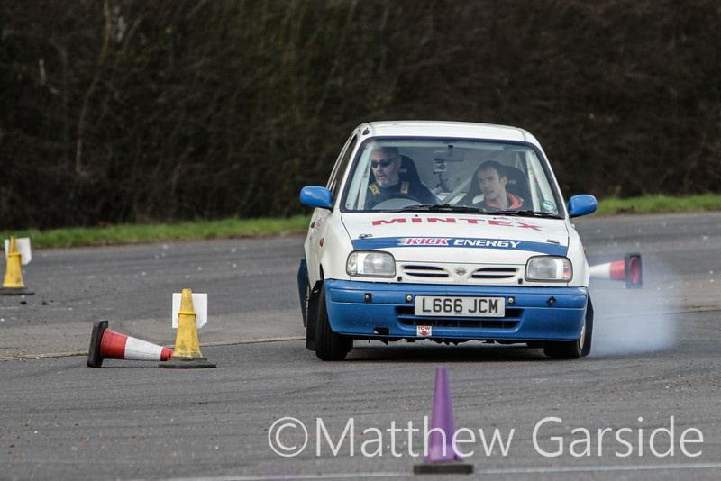 White and Blue Micra