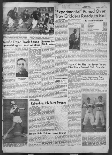 Daily Trojan, Vol. 44, No. 1, September 08, 1952