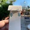 4.20ctw Blue Zircon Dangle Earrings 6