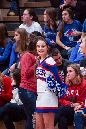 LB JV BBK Cheerleaders @ Home Game (2019-01-25)