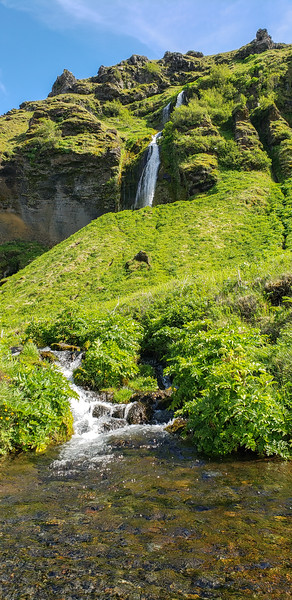Iceland Waterfalls Top and Bottom  Photography by Wayne Heim