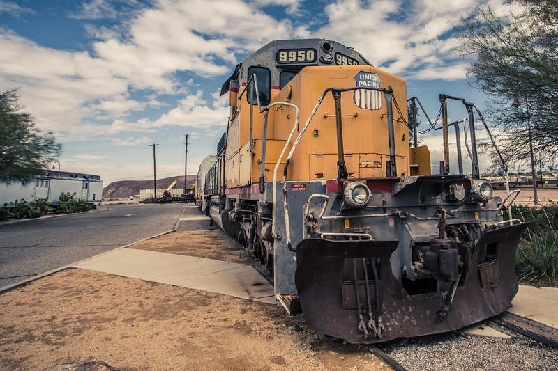 Union Pacific Train at Barstow Railroad Museum. Route 66 California