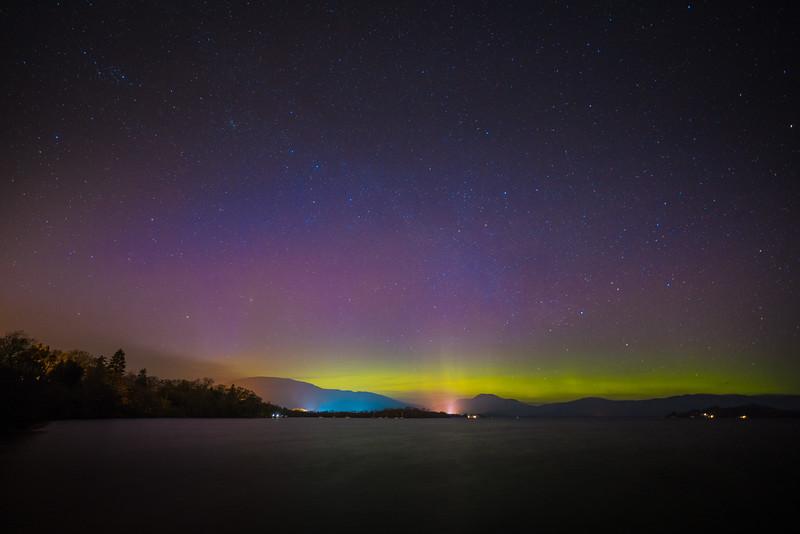 The Aurora Borealis over Loch Lomond