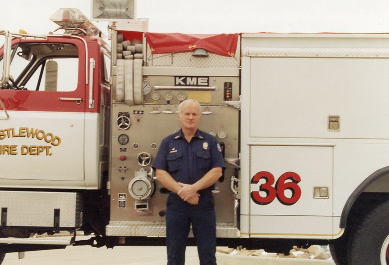 Randy Nelson E 36 with Plaque for Kerry Tolles on pump panel.jpg
