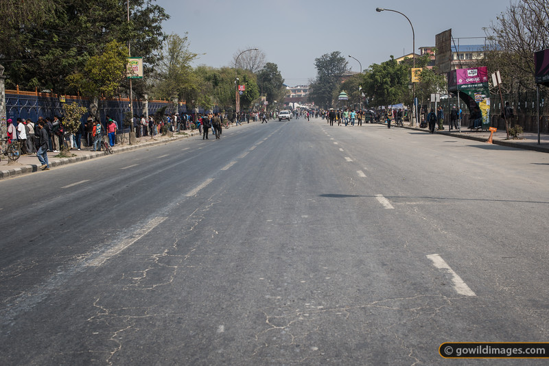 Empty roads - a pleasant side effect of the 'banda' (strike).