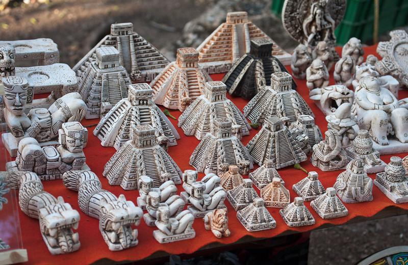 Souvenir stall in Chichen Itza