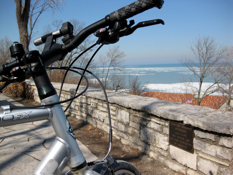 A stop at the beach during a mid March ride.