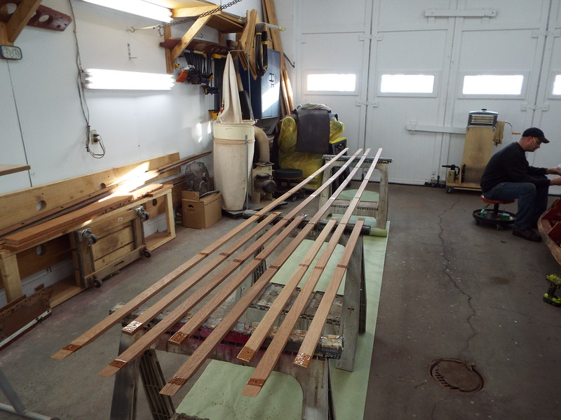 Epoxy applied to the new side battens.
