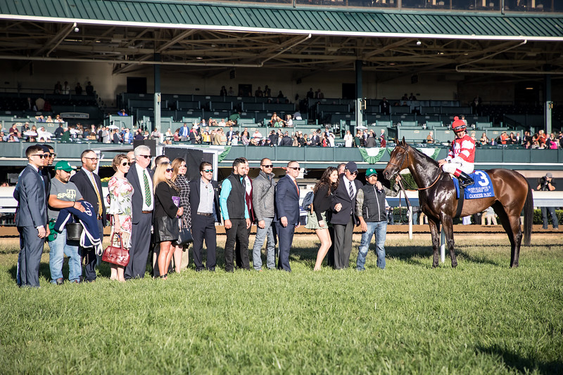 Cambier Parc (Medaglia d'Oro) wins the Queen Elizabeth II Challenge Cup (G1) at Keeneland on 10.12.2019. Johnny Velazquez up, Chad Brown trainer, OXO Equine owner.
