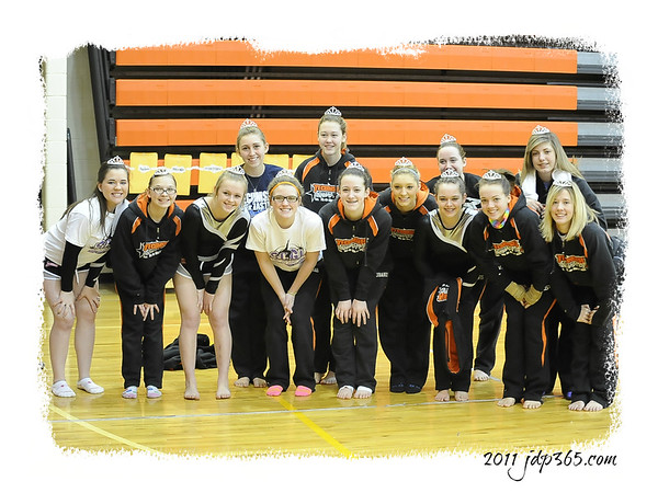 Girls Varsity Gymnastics - Tecumseh Invitational  2/26/11