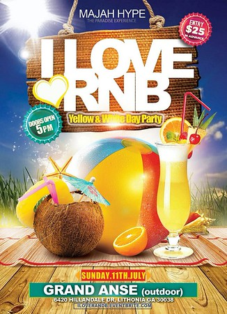 MAJAH HYPE'S PRESENTS I LOVE RNB YELLOW & WHITE DAY PARTY