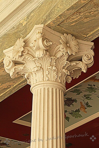 Column at the Getty Villa