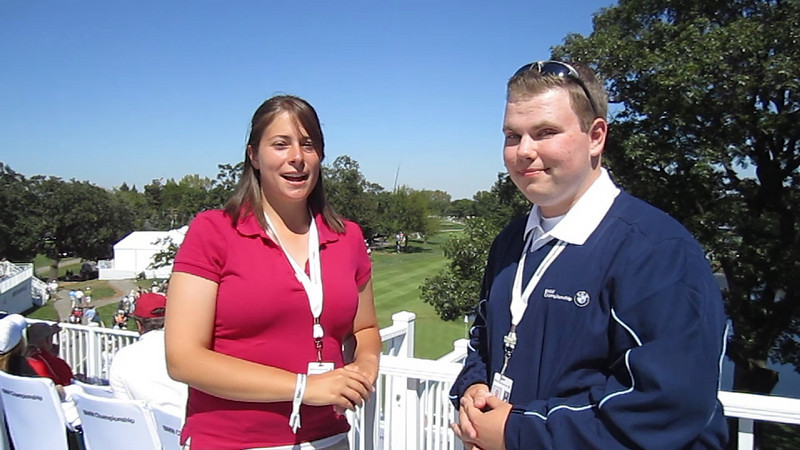 Evans Scholar, Jessica Dillard, interviews fellow Scholar, Matthew Sachaj, on BMW's Hole-In-One scholarship tradition, which grants a four-year Evans Scholarship in recognition of any player to score the first hole-in-one on any hole during the tournament.
