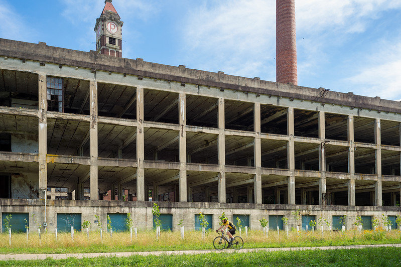Peters Cartridge Co. remains along Little Miami Scenic Bike Trail