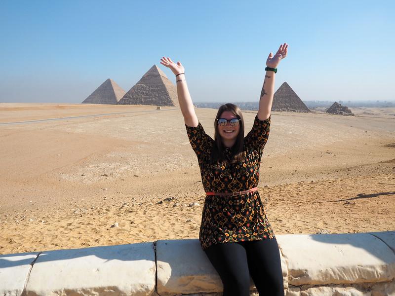 Amanda at the Pyramids