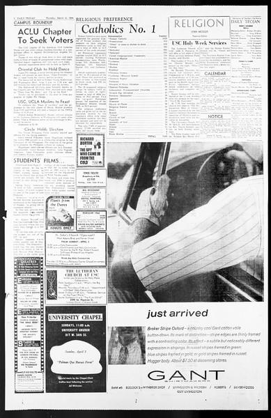 Daily Trojan, Vol. 57, No. 98, March 31, 1966