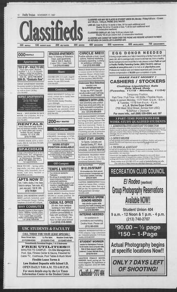 Daily Trojan, Vol. 132, No. 56, November 17, 1997