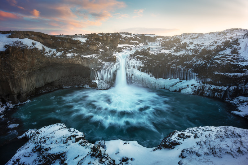 Aldeyjarfoss winter horizontal iceland waterfall long exposure.jpg