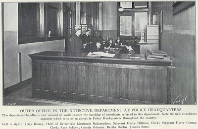 Outer Office of Detective Department 1929