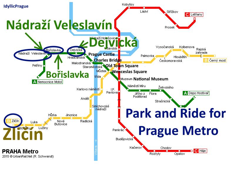 Park & Ride IdyllicPrague by Car to Prague Metro