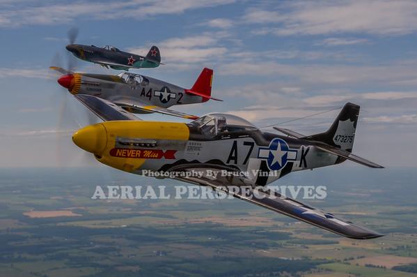 4 Ship Warbird Shoot - Geneseo 7/15/12 N119H N61429 N42YK N60DJ