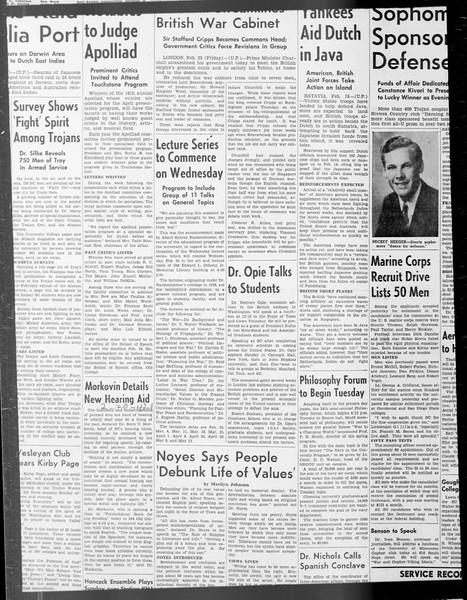 Daily Trojan, Vol. 33, No. 76, January 01, 1942