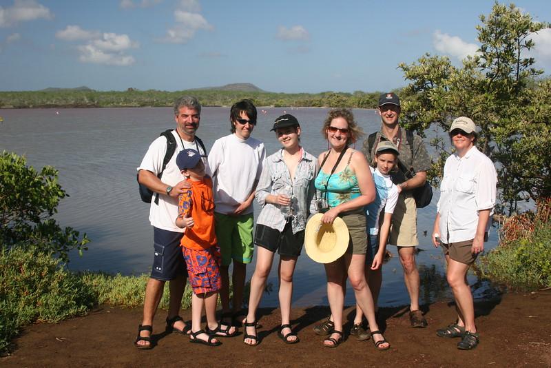 2007-02-20-0001-Galapagos with Hahns-Day 4, Floreana-Cormorant Point-Eric-Jeremy-Evan-Audrey-Debby-Elaine-Curtis-ElaineH.JPG
