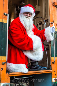 Steam Train Santa