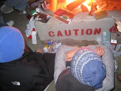 Rho Pi Bonfire