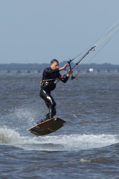 Trey Kite boarding