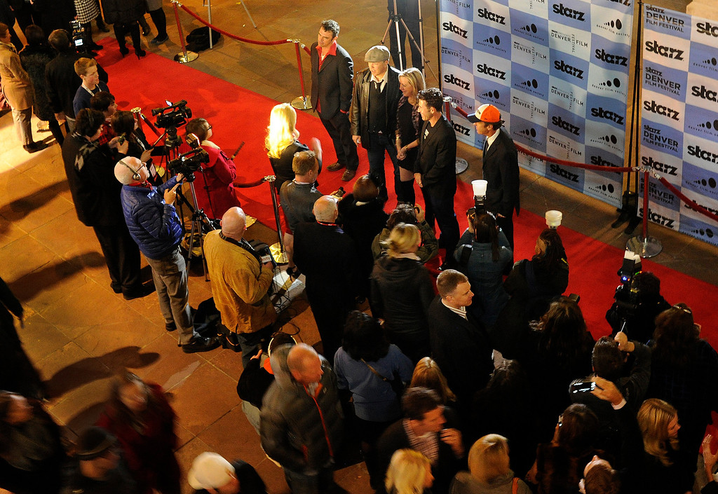 . DENVER, CO. - NOVEMBER 6: The 36th Starz Film Festival opened Wednesday night, November 6, 2013 with a showing of the movie Labor Day. Red carpet arrivals were done outside the Ellie Caulkins Opera House prior to the film. Photo By Karl Gehring/The Denver Post