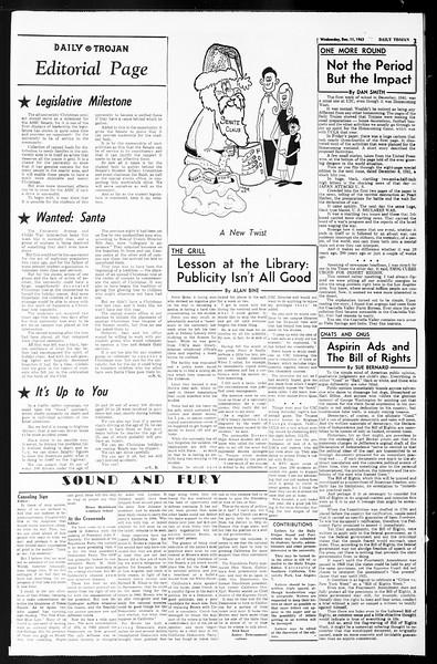 Daily Trojan, Vol. 55, No. 53, December 11, 1963