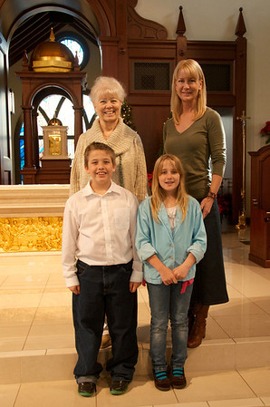 Stacie Mader and Family Visit Celebration's Corpus Christi Parish