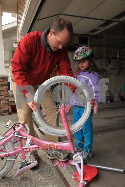 "Father says, ""Bicycle maintenance starts when you get your first bike."""