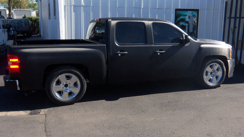 Truck wrapped in Carbon Fiber Wraps
