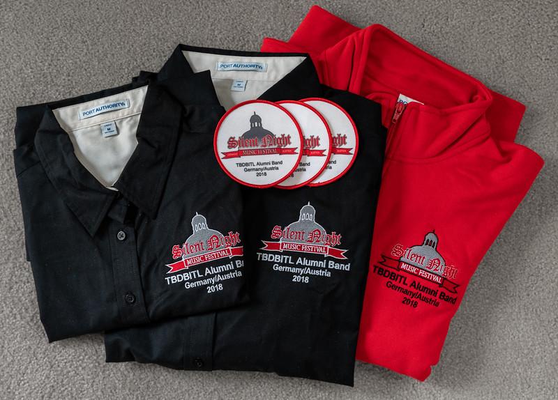 Uniform shirts and other tour merchandise