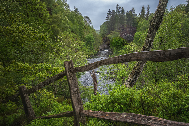 Rail Fence and River Garry