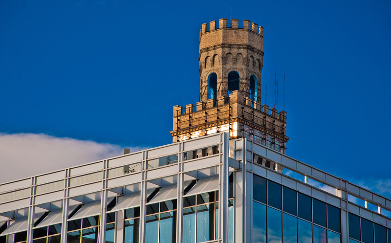 Top of Bromo Seltzer Tower, Baltimore, Maryland