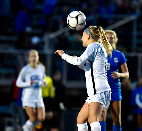 11/23/2019 Mike Orazzi | StaffrGlastonbury High School's Mackenzie Baker (6) during the Class LL Girls State Soccer Tournament at Veterans Stadium in New Britain Saturday evening. Glastonbury defeated Southington 1-0. r