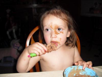 Alyce Wearing Chocolate Ice Cream