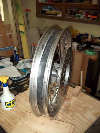 Tubeless conversion rear tire