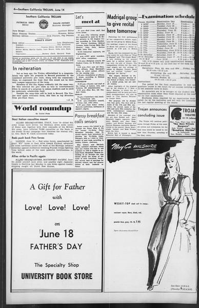 The Trojan, Vol. 35, No. 131, June 14, 1944