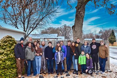 2020 Family Christmas Photo in Idaho