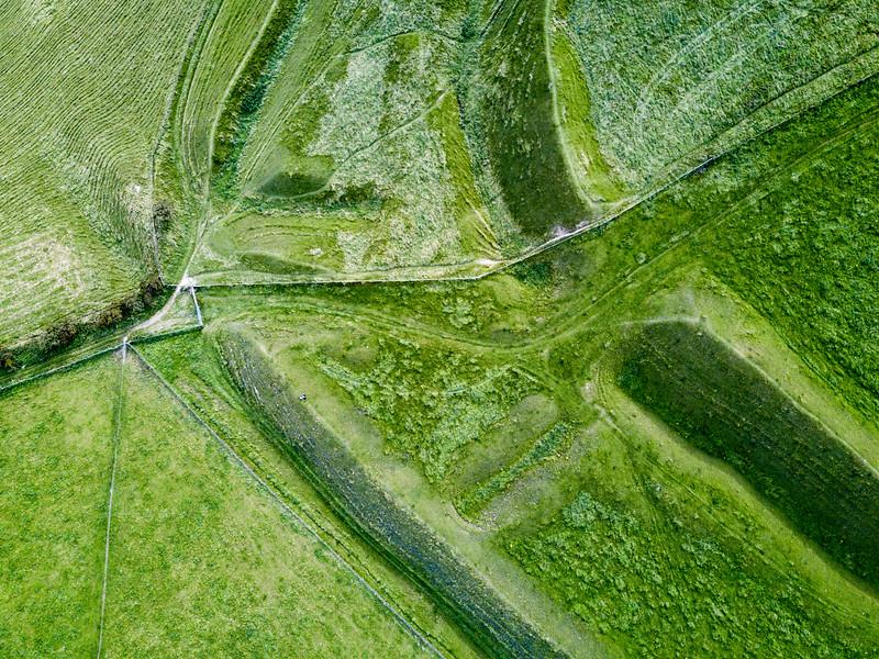 Eggardon Hill iron age earthworks in Dorset
